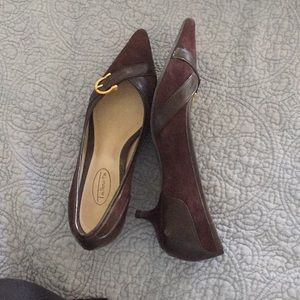 Talbots Suede and Leather Brown Pumps 7B